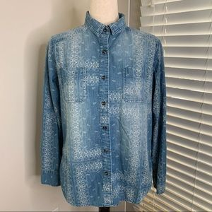 Mossimo Southwestern Boyfriend Denim Shirt